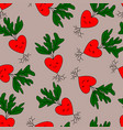 cute kawai radish vector image
