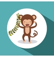 cute monkey design vector image vector image