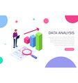 data analysis concept with characters can use vector image
