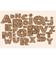 Decorative Alphabet with a paisley zen doodle vector image vector image