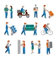 Delivery icons flat vector image