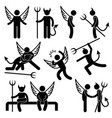 devil angel friend enemy icon symbol sign vector image