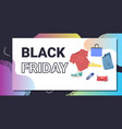 different fashion clothes black friday big sale vector image