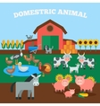 Domestic Animals Concept vector image vector image