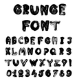 English alphabet in grunge style - coal imitation vector image vector image