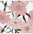 floral garden peony background pastel neutral vector image