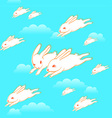 Flying bunnies pattern