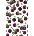 fresh purple plum seamless pattern vector image vector image