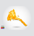 geometric polygonal style map of eritrea low poly vector image vector image
