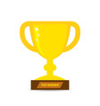 gold trophy cup icon vector image