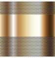 Golden background perforated sheet vector image