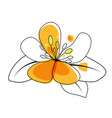 hand drawn flower isolated on white vector image vector image