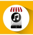hand holding e-shopping music design vector image vector image