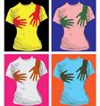 Hand print tees vector image vector image