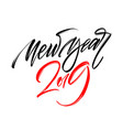 happy new year 2019 hand writting lettering design vector image vector image