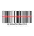 isometric barcode with laser scanning vector image vector image
