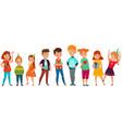 kids party retro composition vector image vector image