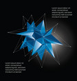 low poly crystal infographic vector image vector image