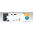 modern yellow black header design logo background vector image vector image