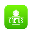 Nature cactus icon green