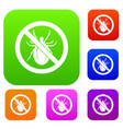 no bug sign set collection vector image vector image