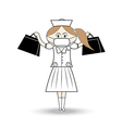Nurse wearing a mask carrying aid vector image vector image