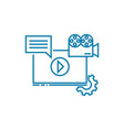 online media linear icon concept online media vector image