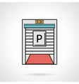 Parking gate flat color icon vector image vector image