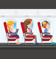 passenger on the plane vector image vector image