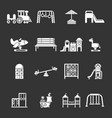 playground equipment icons set grey vector image vector image