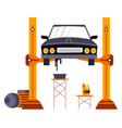 repairing or maintaining car fixing services vector image vector image