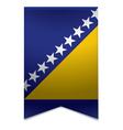 Ribbon banner - bosnian flag vector image vector image