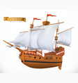 sailing ship 3d icon vector image vector image