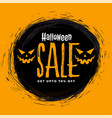 scary happy halloween sale background with ghost vector image