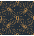 seamless vintage cute hand drawn flower pattern