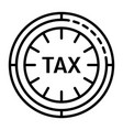 tax clock icon outline style vector image