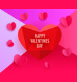 template for a greeting card happy valentines day vector image