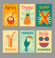 tropical printable set vector image