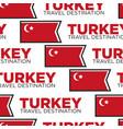 turkey travel destination turkish national flag vector image vector image