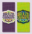 vertical banners for brazil carnival vector image vector image