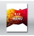 Restaurant Menu Card Broschure template Modern vector image