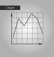 black and white style icon falling graph vector image