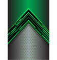 abstract green arrow light digital metallic vector image vector image