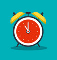 alarm clock icon - analog timer vector image vector image