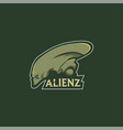 aliens mascot logo e-sport team vector image
