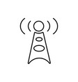 antenna communication technology cell tower icon vector image vector image