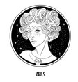 aries astrological sign as a vector image vector image