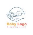 baby logo template vector image