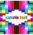 background with colorful geometric pattern vector image vector image