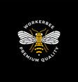bee round badge label logo icon vector image